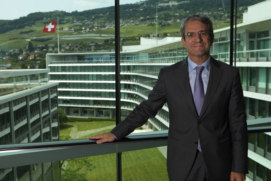 Laurent Freixe, Nestle's Europe boss, poses in the company headquarters after an interview with Reuters in Vevey June 26, 2013. Food giant Nestle, one of Europe's biggest companies, is launching a plan to help 20,000 young people find work as the continent grapples with a youth unemployment crisis that is sapping consumer confidence. Picture taken June 26, 2013. (Photo: REUTERS)