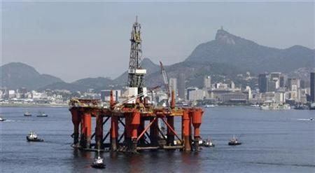 A Petrobras Oil platform is seen at Guabanara bay in Rio de Janeiro