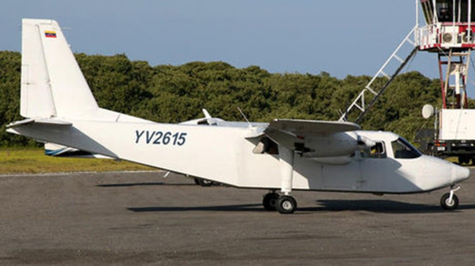 The Britten-Norman BN-2 Islander aircraft YV-2615, which was reported missing on January 4