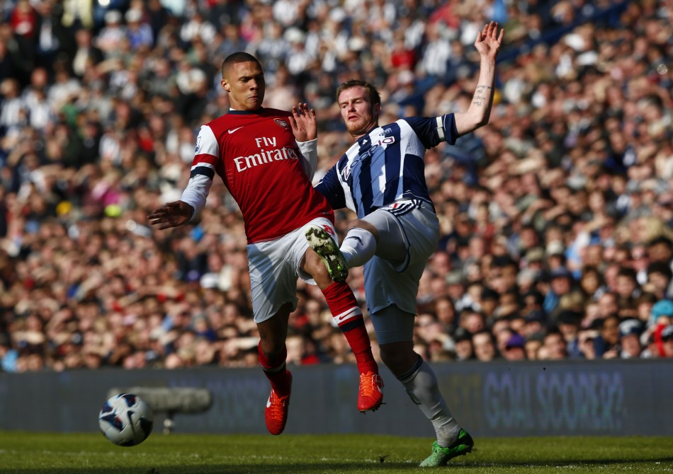 Kieran Gibbs (L) and Chris Brunt