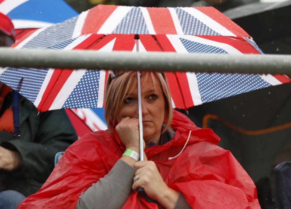 Rain-Affected Practice Session at 2013 Formula 1 British Grand Prix