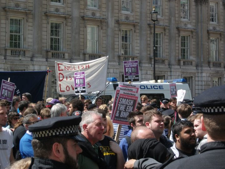 Violent scuffles broke out when UAF and EDL clashed in Whitehall, last month