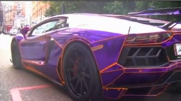 Police Seize Purple Glow In The Dark Lamborghini Aventador Belonging