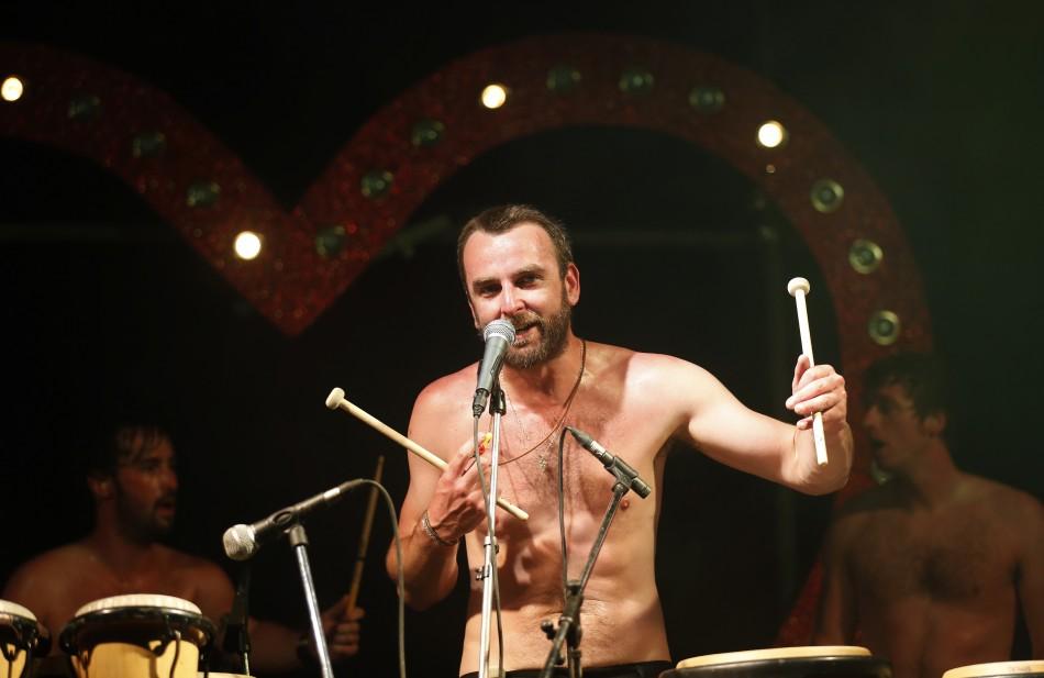 Torann Drums perform at Sensation at Glastonbury music festival at Worthy Farm in Somerset, June 29, 2013.