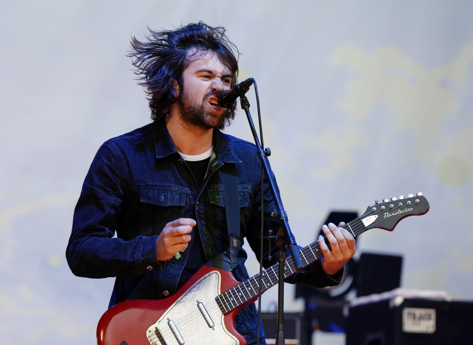 Lead singer Justin Young from The Vaccines performs on the third day of Glastonbury music festival at Worthy Farm in Somerset, June 28, 2013.