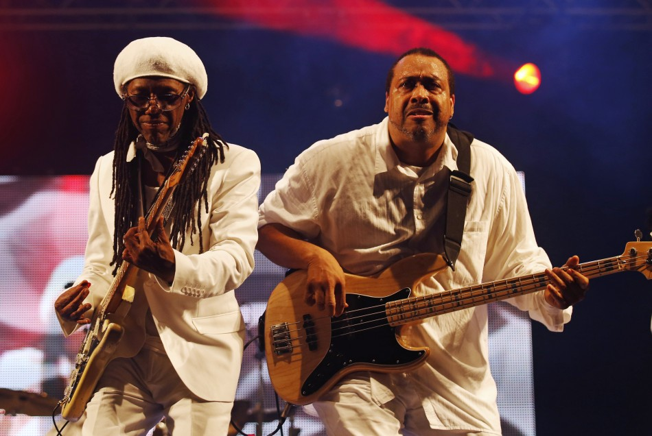 Nile Rodgers L performs with his band Chic on the third day of the Glastonbury music festival at Worthy Farm in Somerset June 28, 2013.