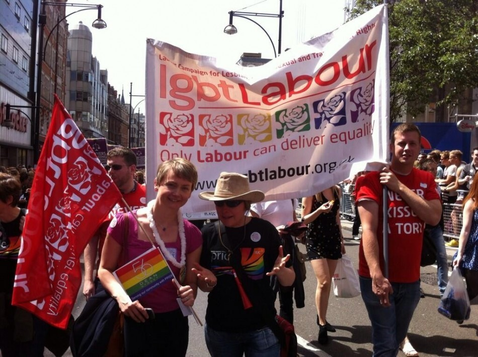 Shadow Home Secretary Yvette Cooper joins the Pride in London march