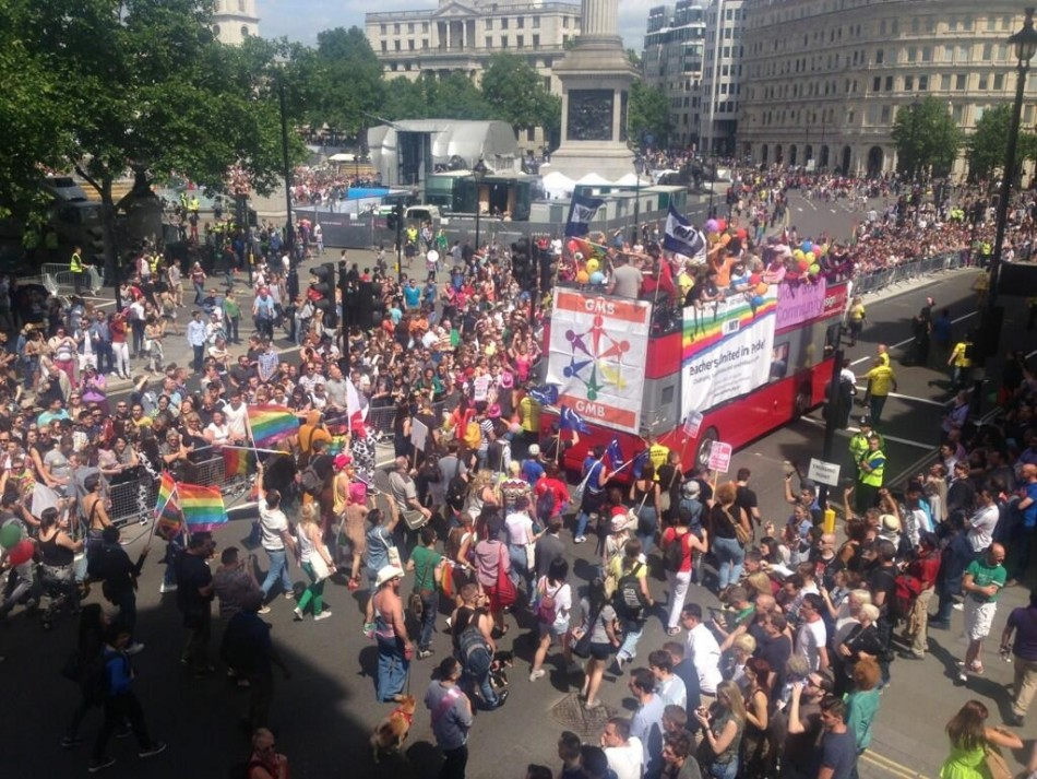 Thousands attend Pride in London march on Saturday 29 June