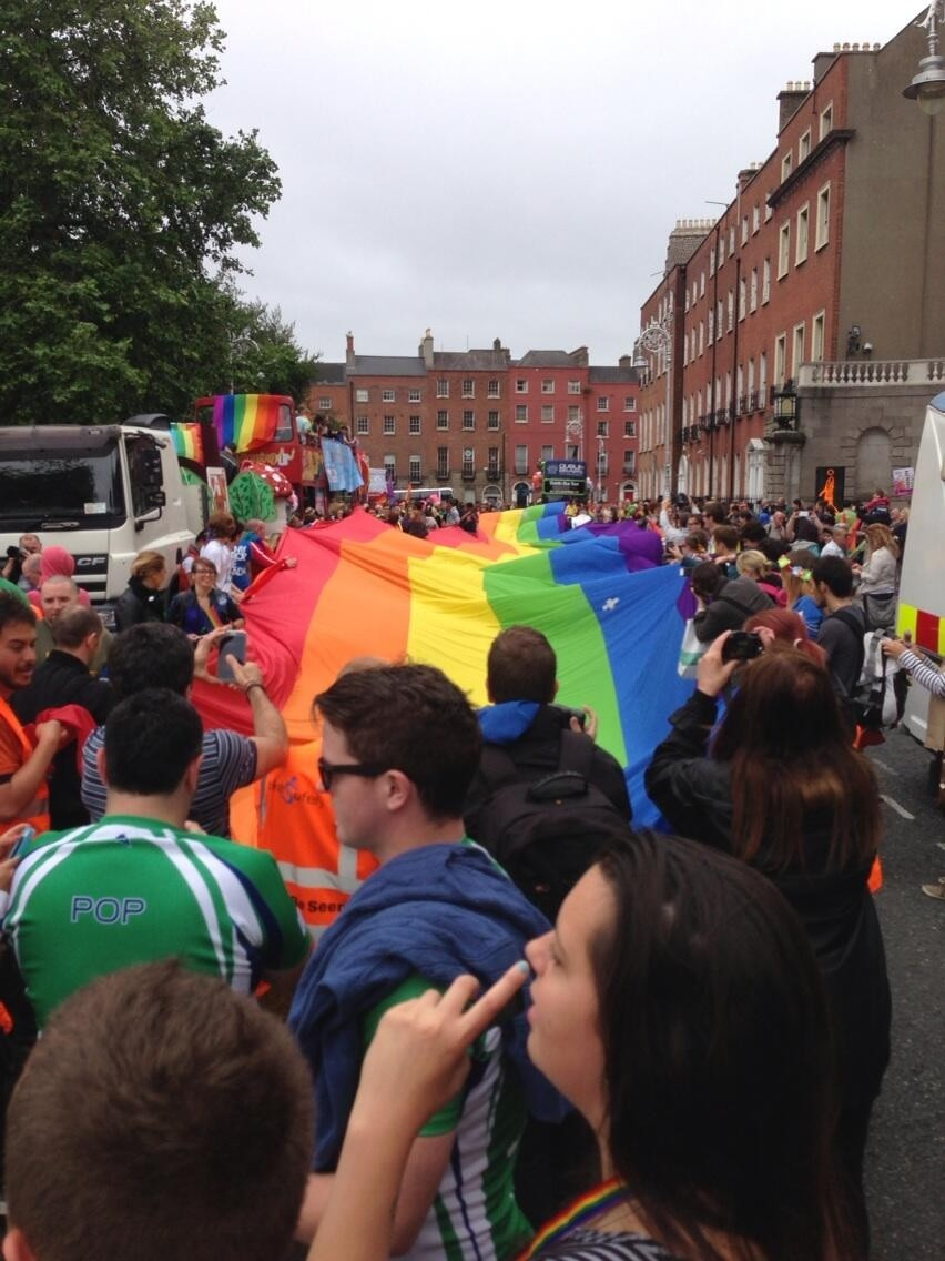 This year's theme for Pride in London is love and marriage(Shaun Tracey)