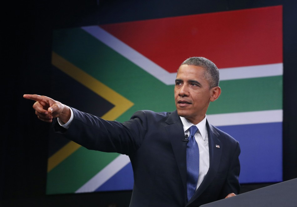 Obama addresses audience in Soweto, South Africa