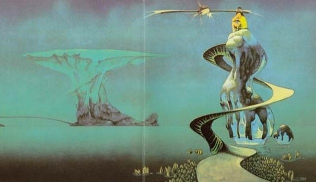 Dean's artwork from sleeve of the Yes album, Yessongs