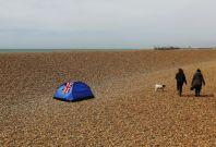 Camping on Brighton Beach