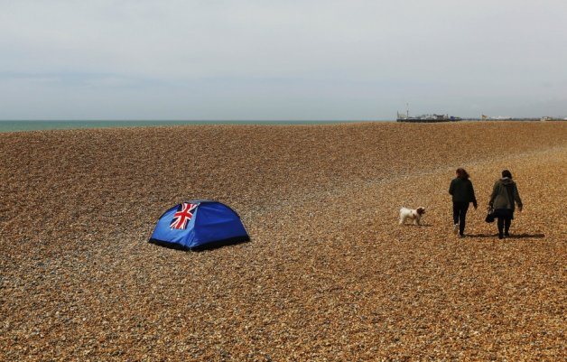 Camping on Brighton Beach