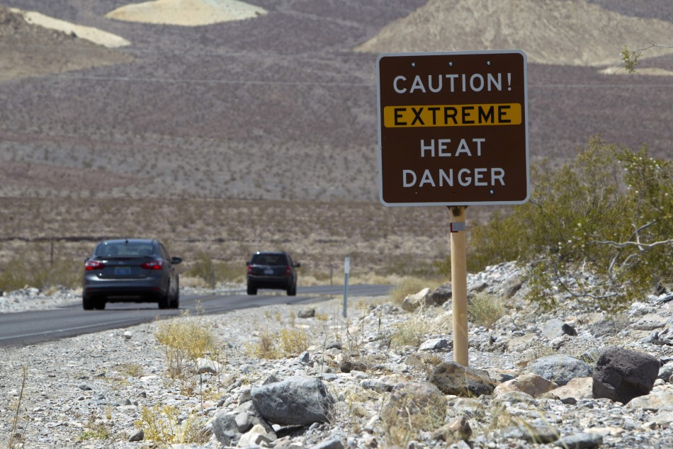 Death Valley National Park in California is close to reaching an all-time record high temperature on Earth (Reuters)
