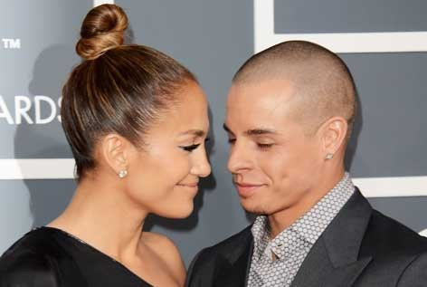 Jennifer Lopez and Casper Smart.