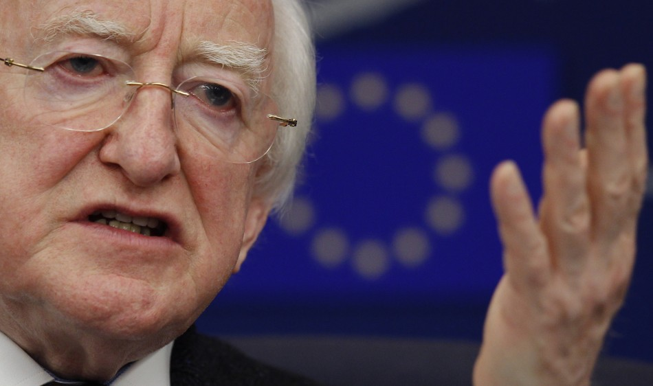 Ireland's president, Michael D. Higgins slams Anglo Irish Bank recordings (Photo: Reuters)