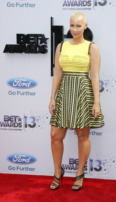 Amber Rose arrives at the 2013 BET Awards in Los Angeles, California June 30, 2013.