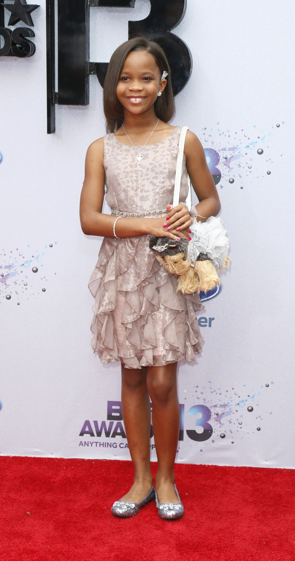 Actress Quvenzhane Wallis arrives at the 2013 BET Awards in Los Angeles, California June 30, 2013.
