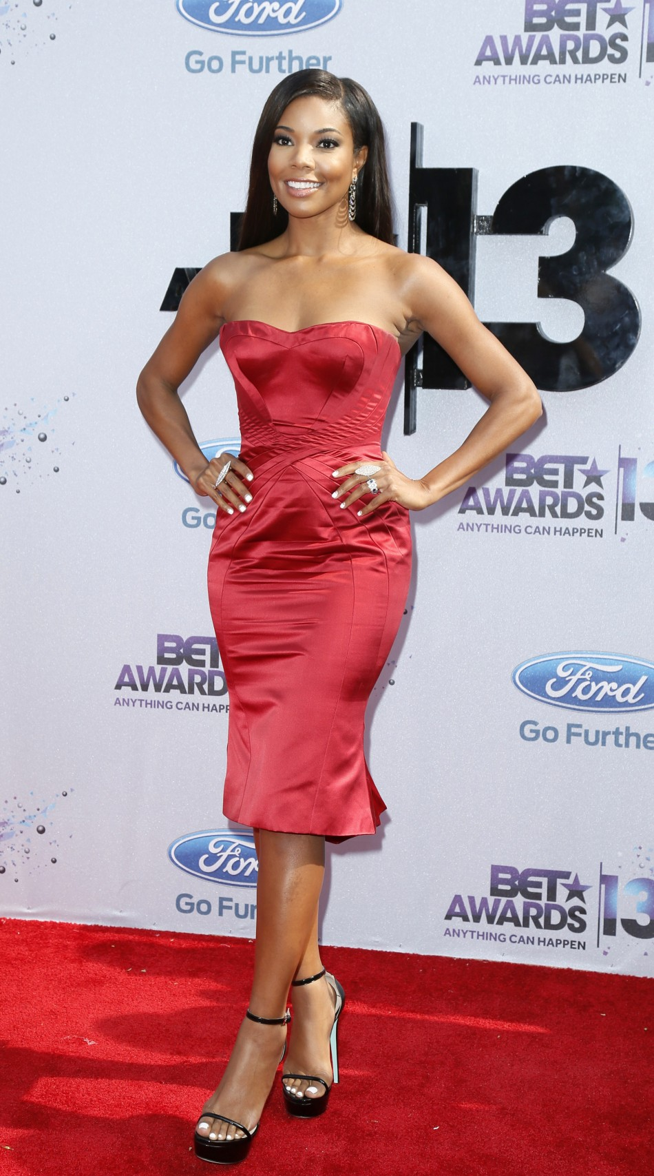 Actress Gabrielle Union arrives at the 2013 BET Awards in Los Angeles, California June 30, 2013.