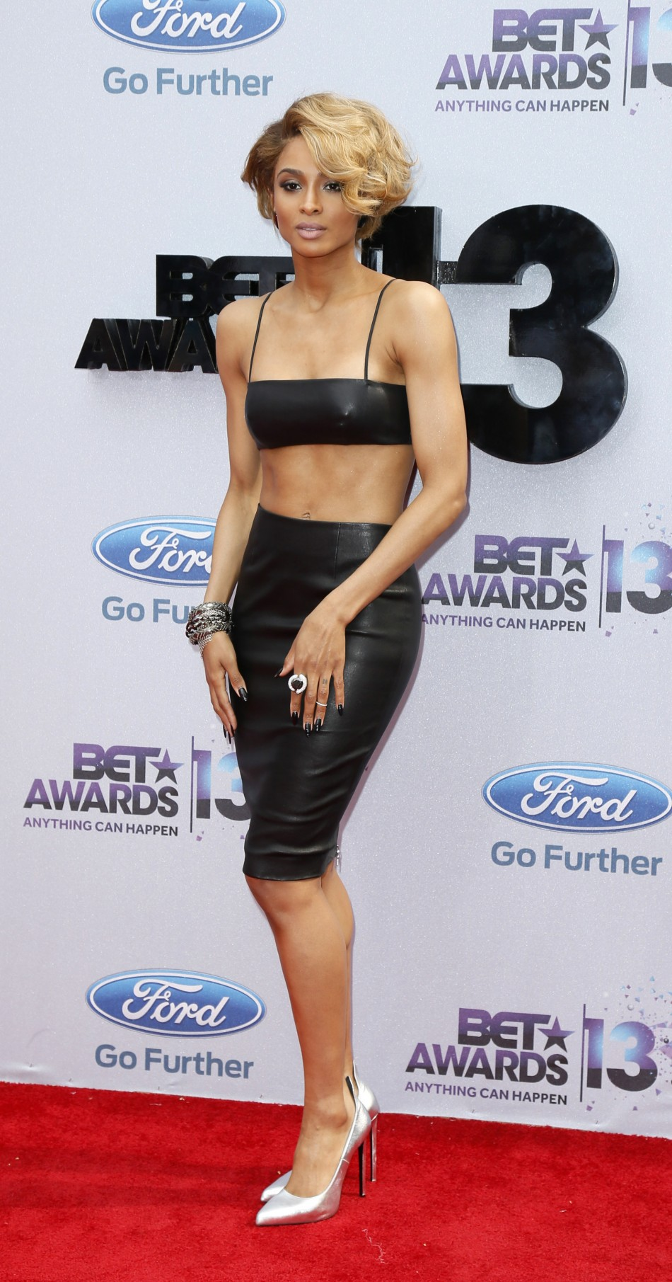 Singer Ciara arrives at the 2013 BET Awards in Los Angeles, California June 30, 2013.