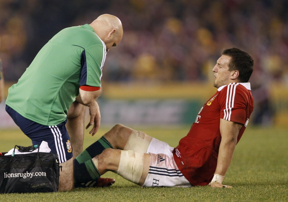 """Sam Warburton suffered a """"significant tear"""" during the last Test (Reuters)"""