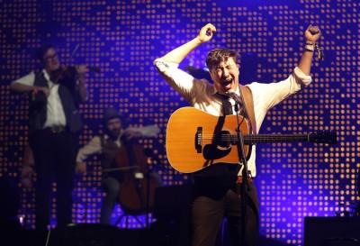 Marcus Mumford, lead singer of Mumford  Sons