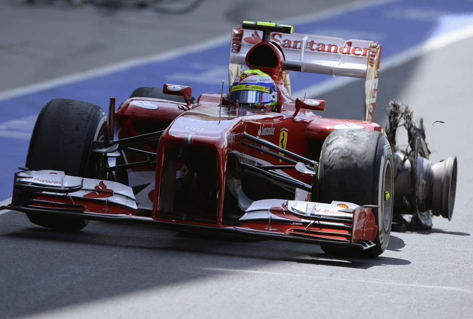 Ferrari's Felipe Massa also experienced a near identical failure (Reuters)
