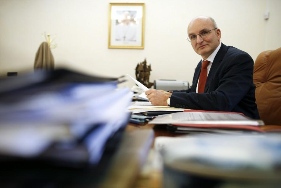 President of the Vatican bank Ernst von Freyberg