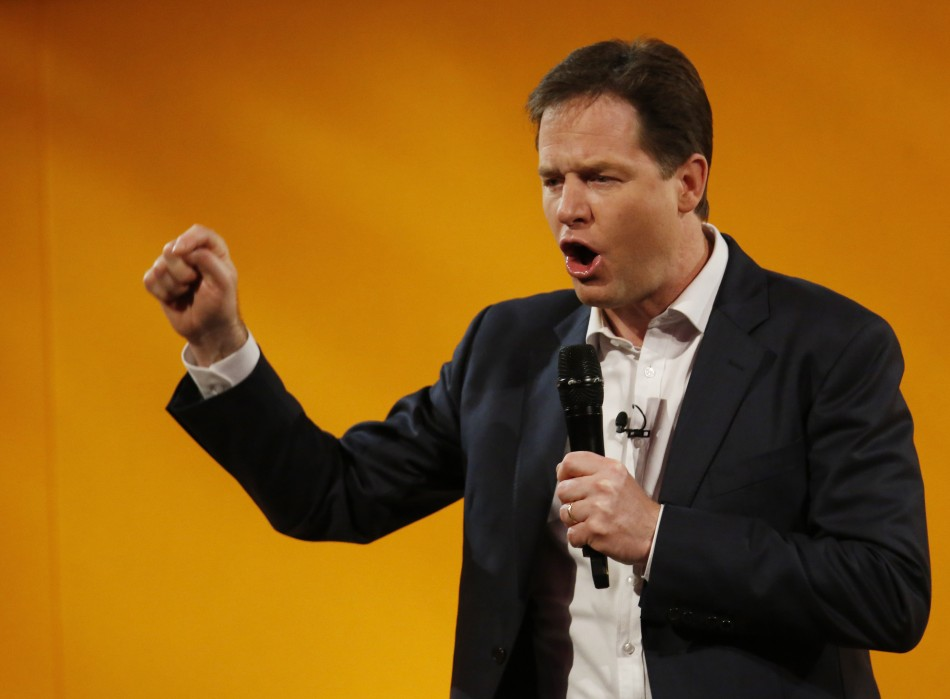 Nick Clegg laid down the gauntlet to MPs by saying he would refuse a recession-busting £10,000 pay rise. (Photo: Reuters)