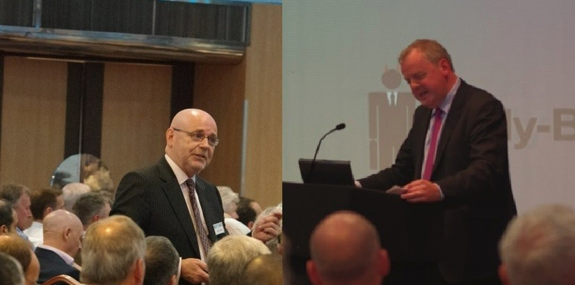 Bully-Banks' chairman Jeremy Roe and Conservative MP Guto Bebb at the latest Bully-Banks' Conference (Photos: Bully-Banks)