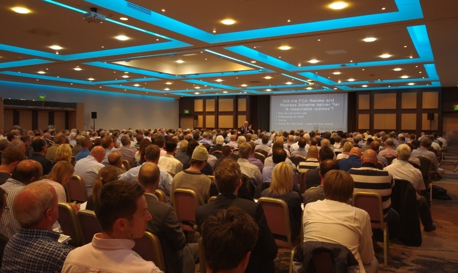 Hundreds of weary business owners gather at the Bully-Banks conference (Photo: Bully-Banks)