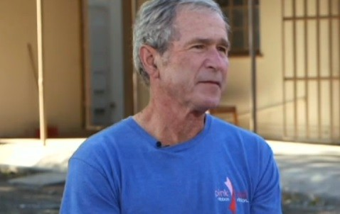"""George Bush was being interviewed on CNN's """"The Situation Room with Wolf Blitzer"""