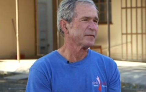George Bush was being interviewed on CNN's