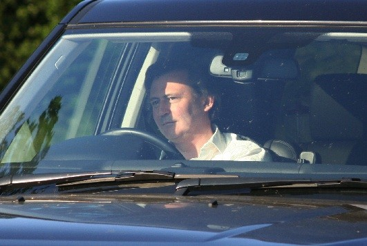 Editor-in-Chief of the Economist John Micklethwait arriving at Bilderberg 2013