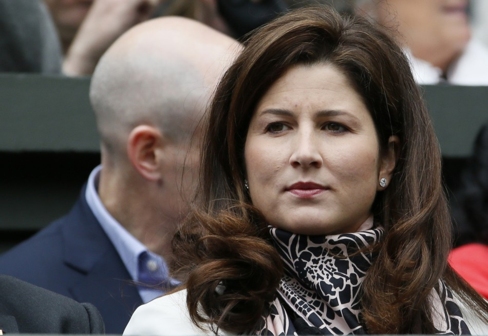 Mirka Federer, wife of Roger Federer of Switzerland