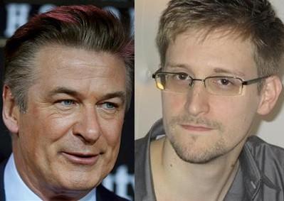 Alec Baldwin and Edward Snowden
