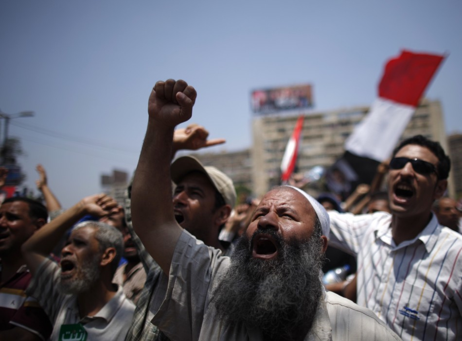 Mohamed Morsi supporters in Cairo