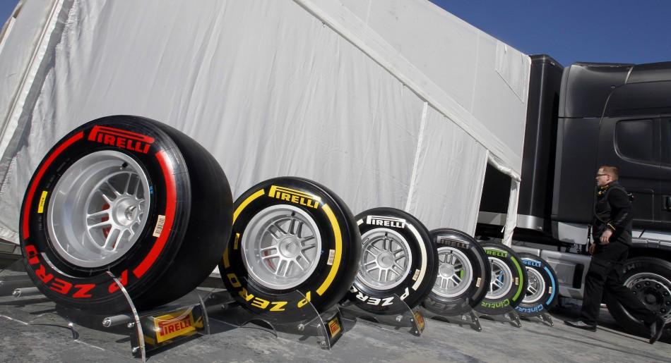 Pirelli Tyres for Formula 1 2013 World Championship