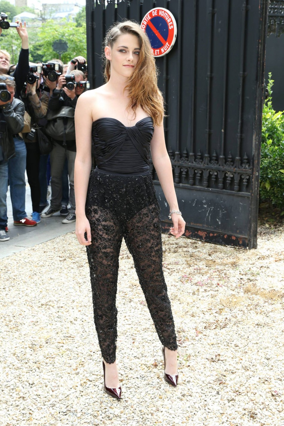 Actress Kristen Stewart at Zuhair Murad fashion show in Paris