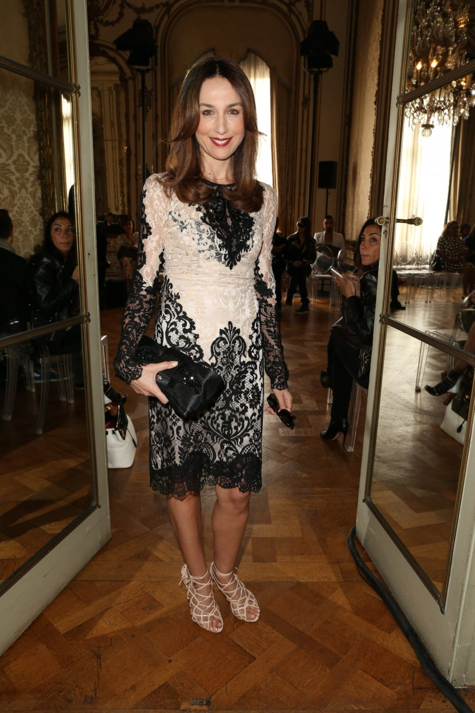 Actress Elsa Zylberstein at Zuhair Murad fashion show in Paris