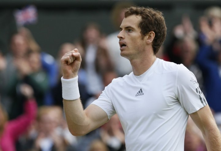 Andy Murray during Wimbledon 2013 semi finals.