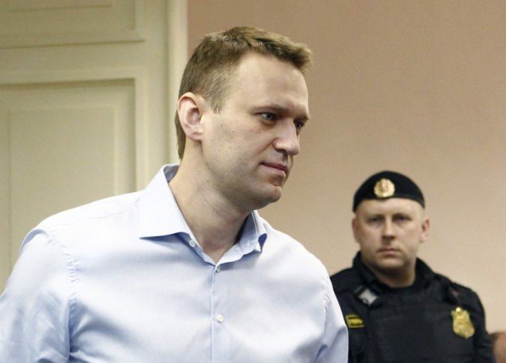 Russian opposition leader and anti-corruption blogger Alexei Navalny