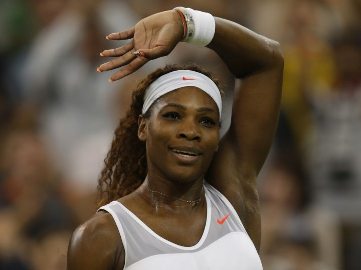 The five-times singles Wimbledon champion Serena Williams loves the All-England towels