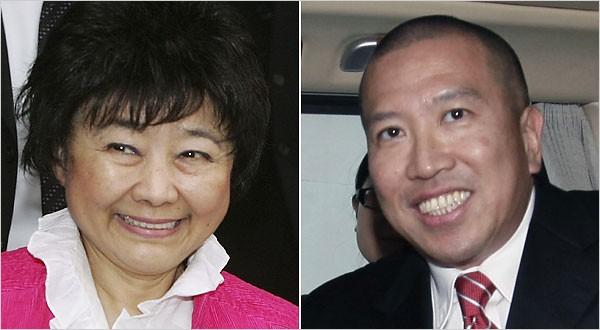 Nina Wang and Peter Chan
