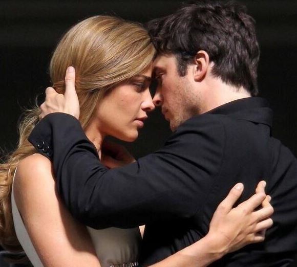 Ian Somerhalder with model Ana Beatriz Barros