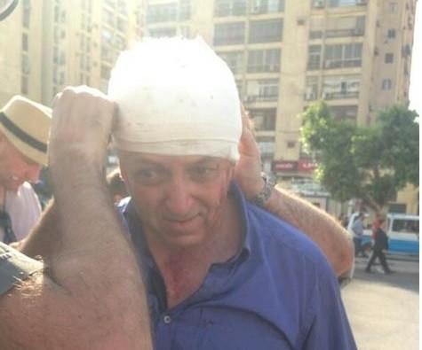 Jeremy Bowen is treated in Cairo