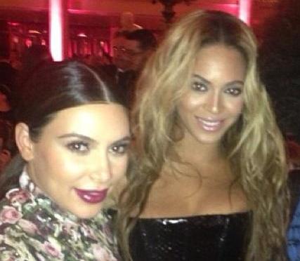 Kim and Beyonce