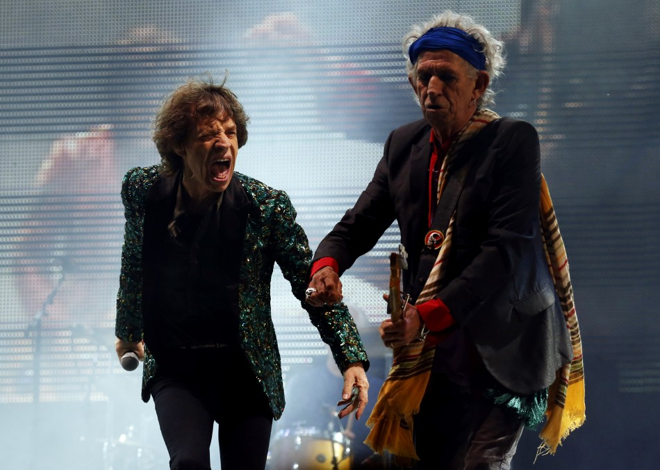 Rolling Stones: Mick Jagger (L) and Keith Richards