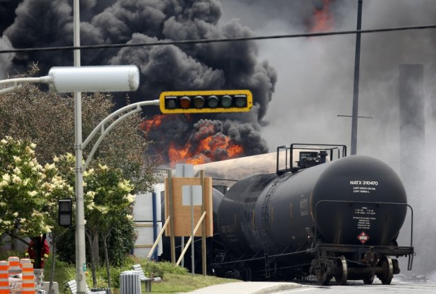 A Tanker Burns in Lac-Megantic