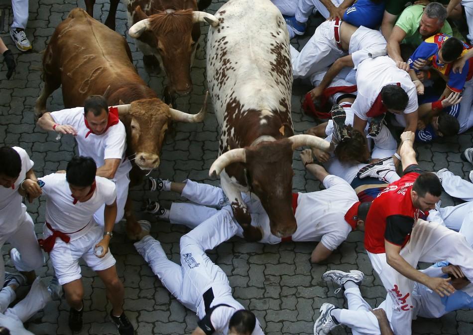Pamplona bull run 2013